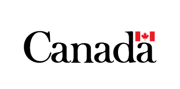 Logo of our funder the canadian government: Canada written in black with a Canadian flag on top of the last A, reminding patrons to support live theatre