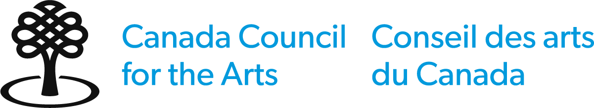 Logo of Canada Council of the Arts, supporters of Activities in Mississauga and puppet show: Canada council of the arts written in blue with the CCA tree logo to the left of it. Theatre tickets coming soon